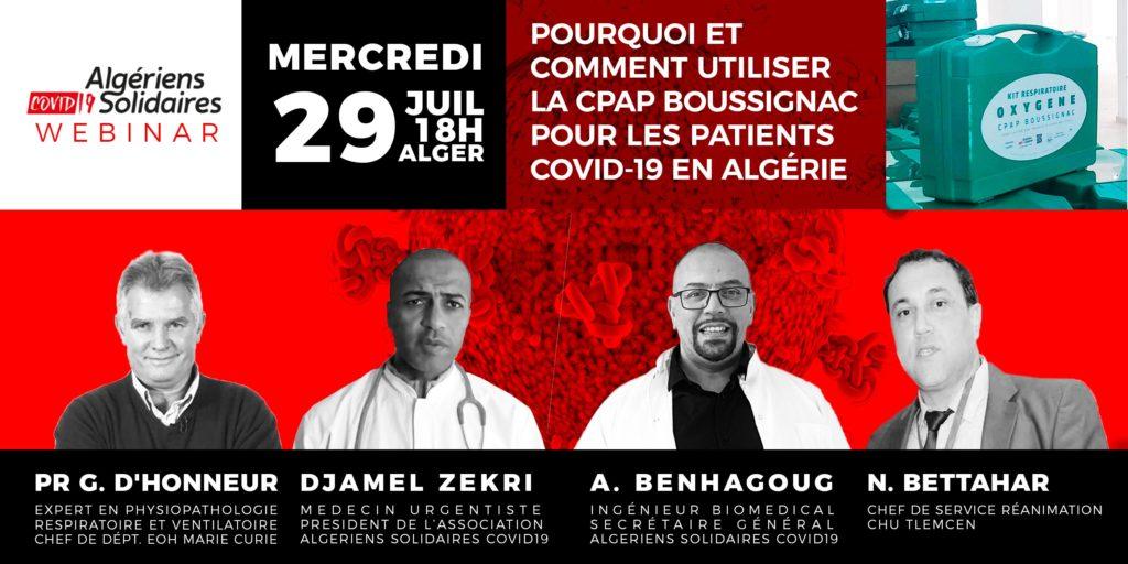 Pourquoi CPAP de Boussignac en tant que ventilation non invasive pour les patients Covid 19 en Algérie